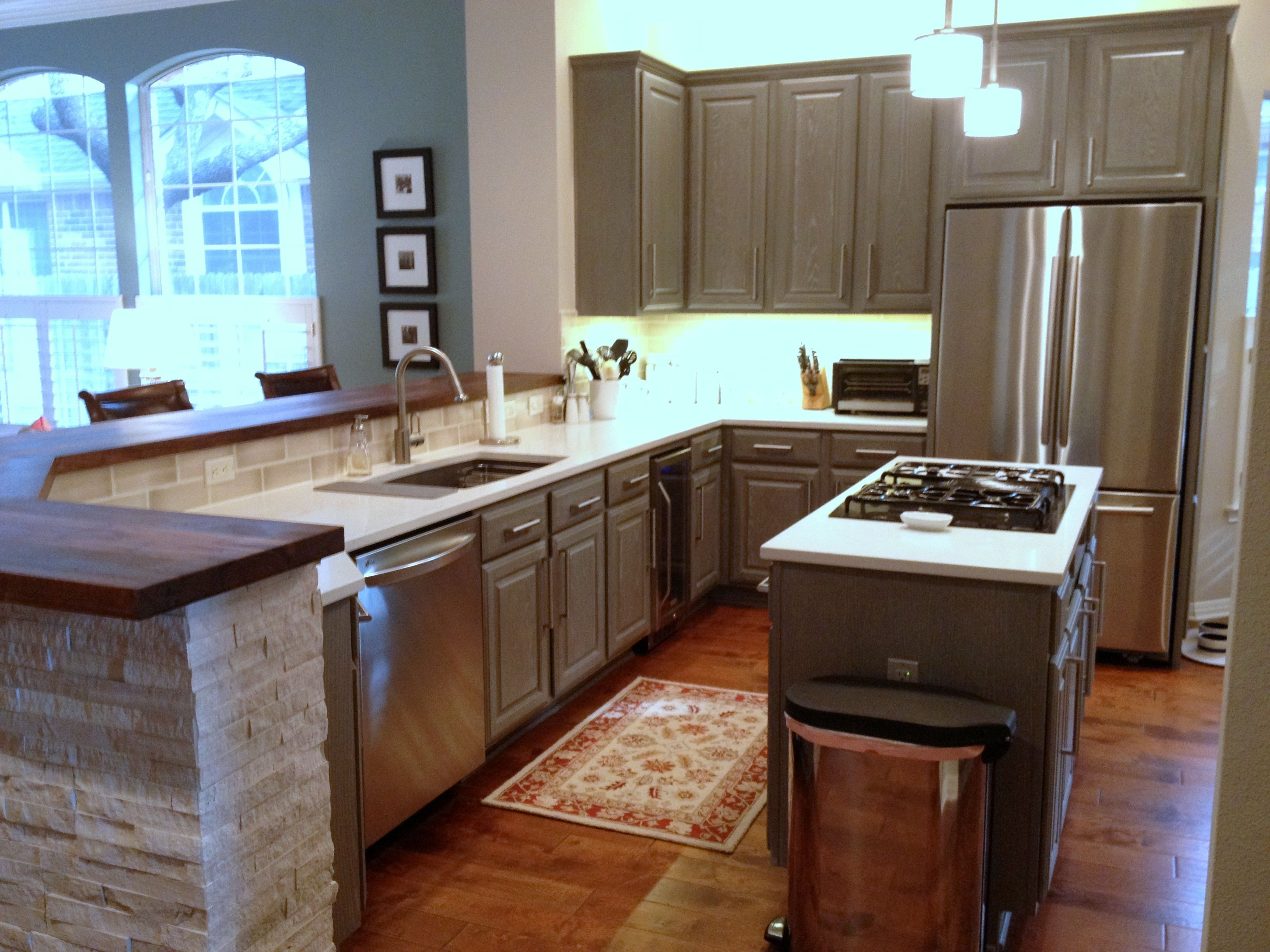 Best After Painted And Glazed Cabinets In Sherwin Williams 400 x 300