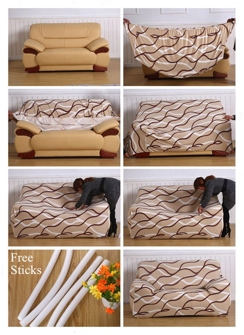 Decorative Stretch Sofa Cover in 2019 | Sofa covers, Diy ...