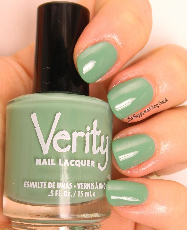Verity Nail Lacquer Asian Jade   Be Happy And Buy Polish   Verity ...