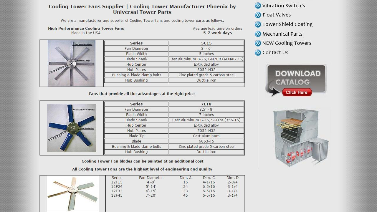 Http Www Universalcoolingtowerproducts Com Cooling Tower Fill