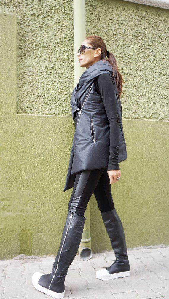 timeless design 00ea1 b6f42 NUOVO AW asimmetrica stravagante nero senza maniche ...
