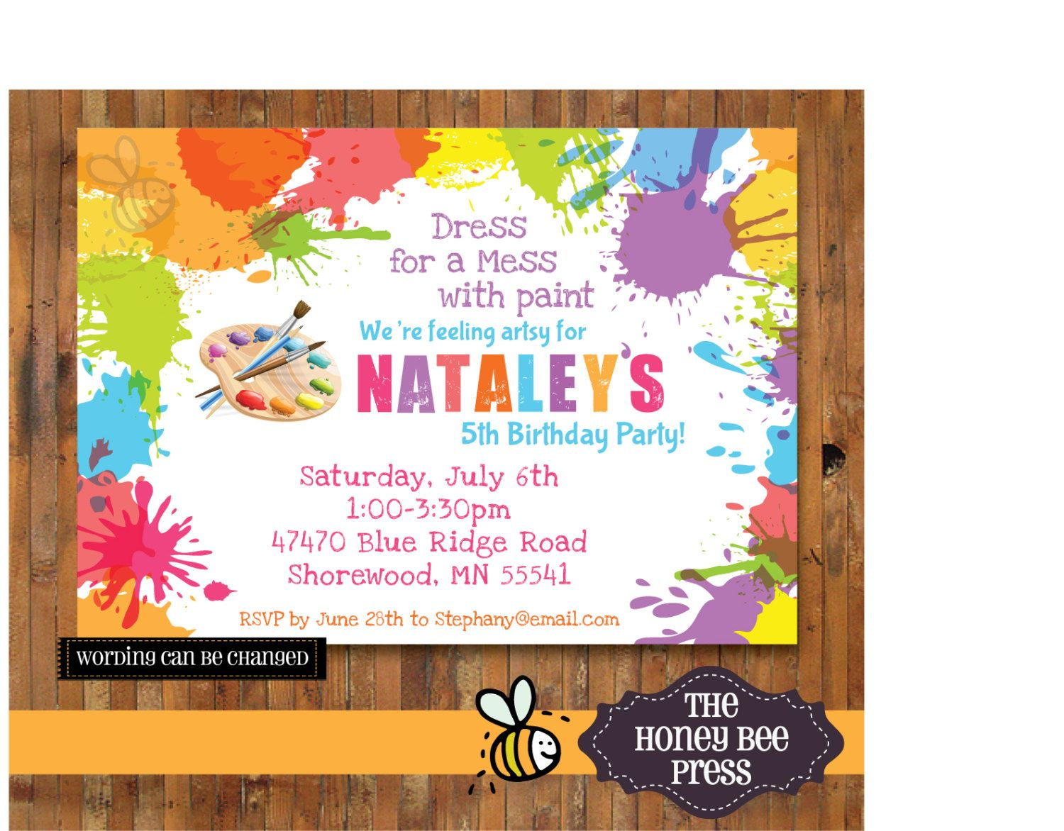 art party invitation templates koni polycode co