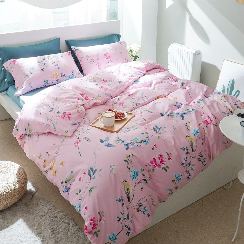 Bed Sheets Egyptian Quality Soft Directly From China Queen Bedding Set Suppliers Sweet Pink Duvet Cover On Pillowcase