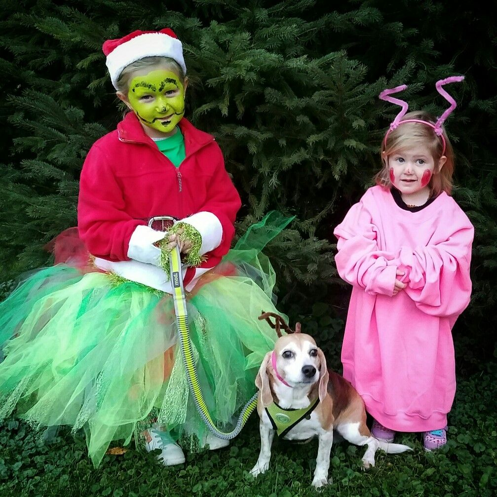 Our attempt with coordinating costumes of The Grinch