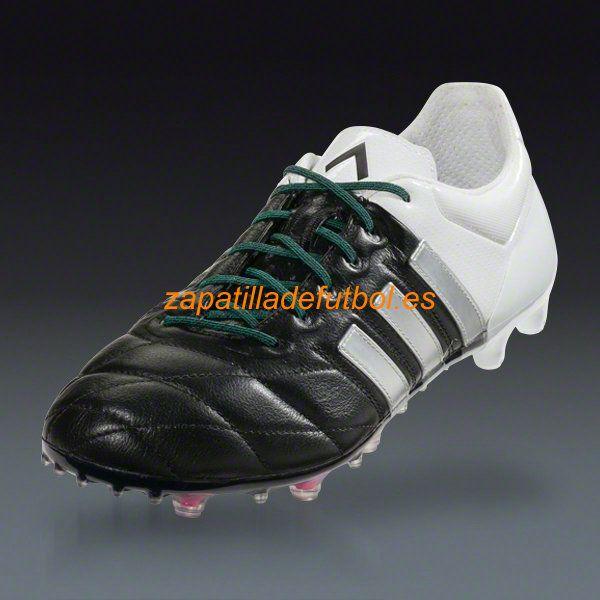 premium selection 6ac6f 26d22 Nueva llegada Zapatillas de futbol sala Adidas Ace 15.1 FG AG Para Cesped  Artificial Negro Mate Blanco De Plata