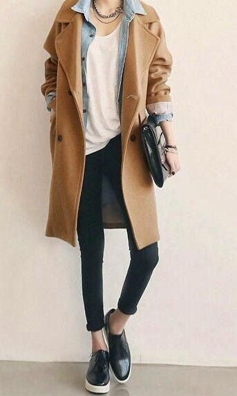 tenue de manteau camel #CAMELCOAT