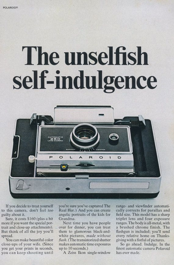 1960s Polaroid Automatic 250 Land Camera Ad The by AdVintageCom ... d8fa6a37904d