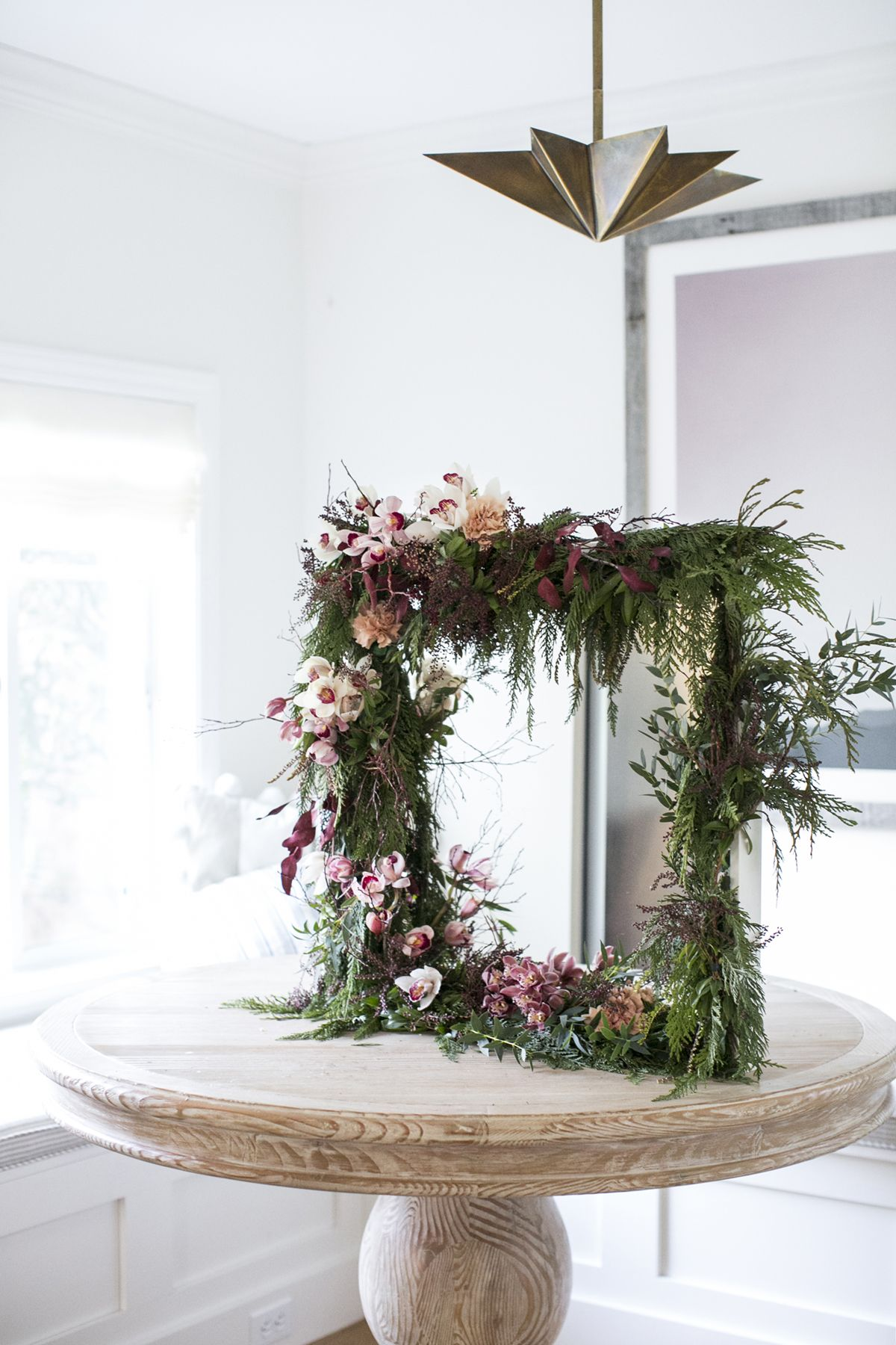 Floral Tutorial A Unique Winter Garland with Orchids