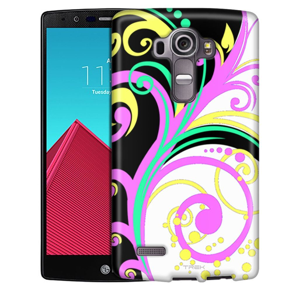 LG G4 Colorful Branches on White and Black Slim Case