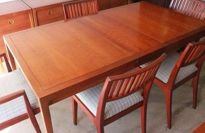 Mid Century Modern Drexel Counterpoint Dining Room Set 1950S