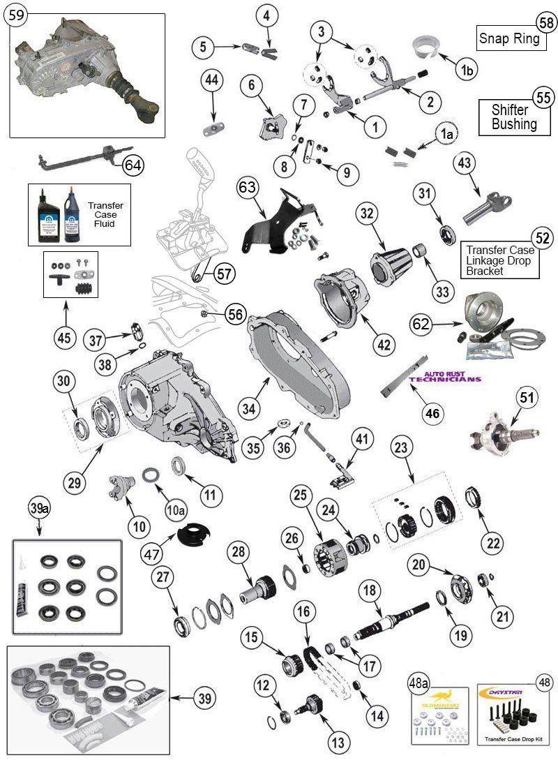 Np 231 Transfer Case Parts For Wrangler Tj  Yj  Cherokee