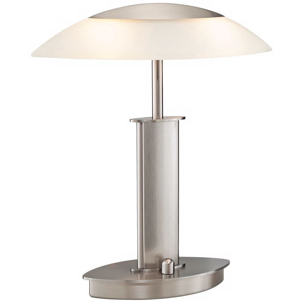 Mini satin nickel and champagne glass holtkoetter desk lamp style