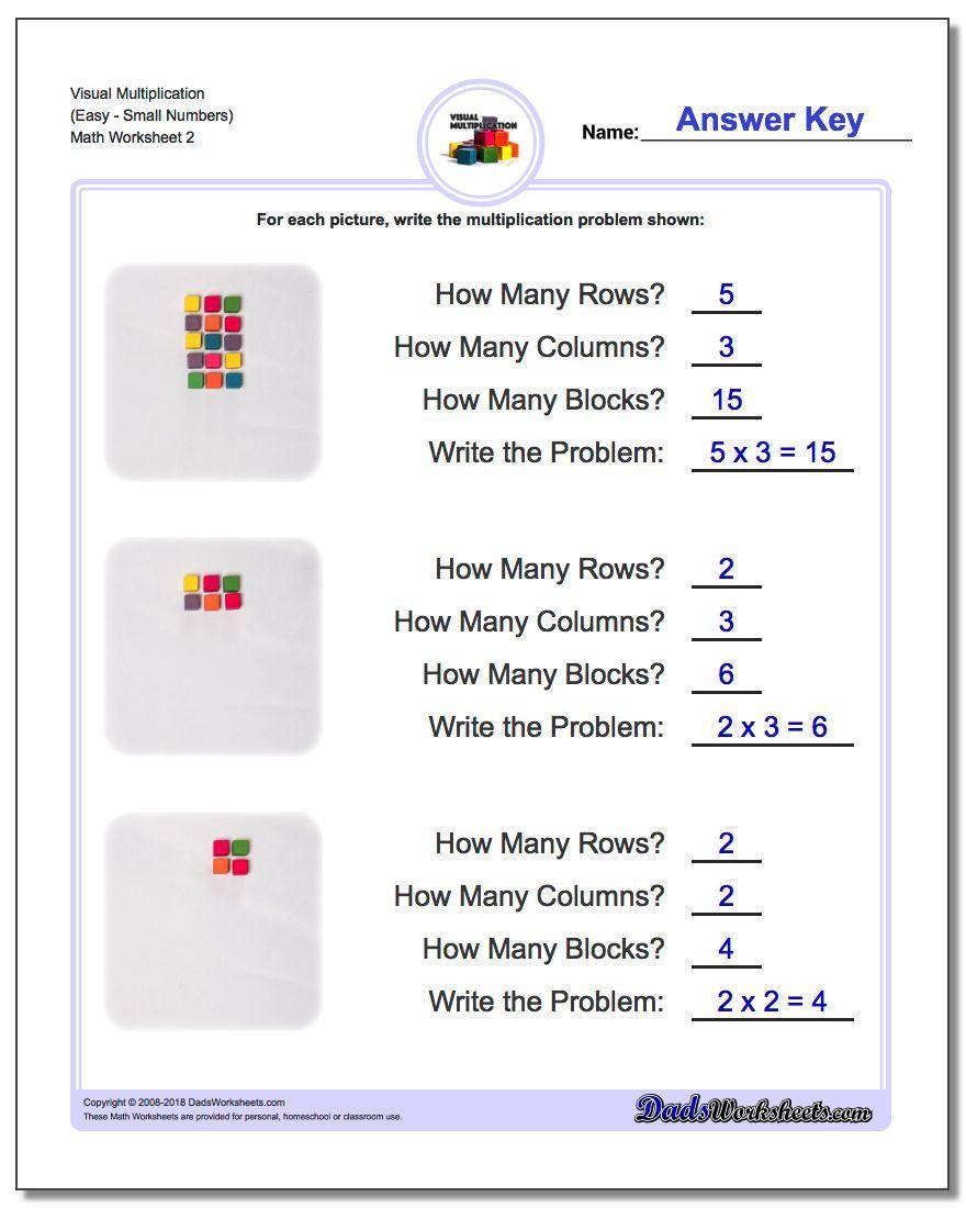 Visual Multiplication Worksheet Easysmall Numbers Multiplication Worksheet Math Worksheets Multiplication Worksheets Pattern Worksheet