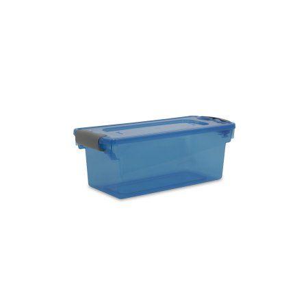 Homz 7.5 Qt. Plastic Storage Tote with Latches Blue (Set of 10)  sc 1 st  Pinterest & Homz 7.5 Qt. Plastic Storage Tote with Latches Blue (Set of 10 ...