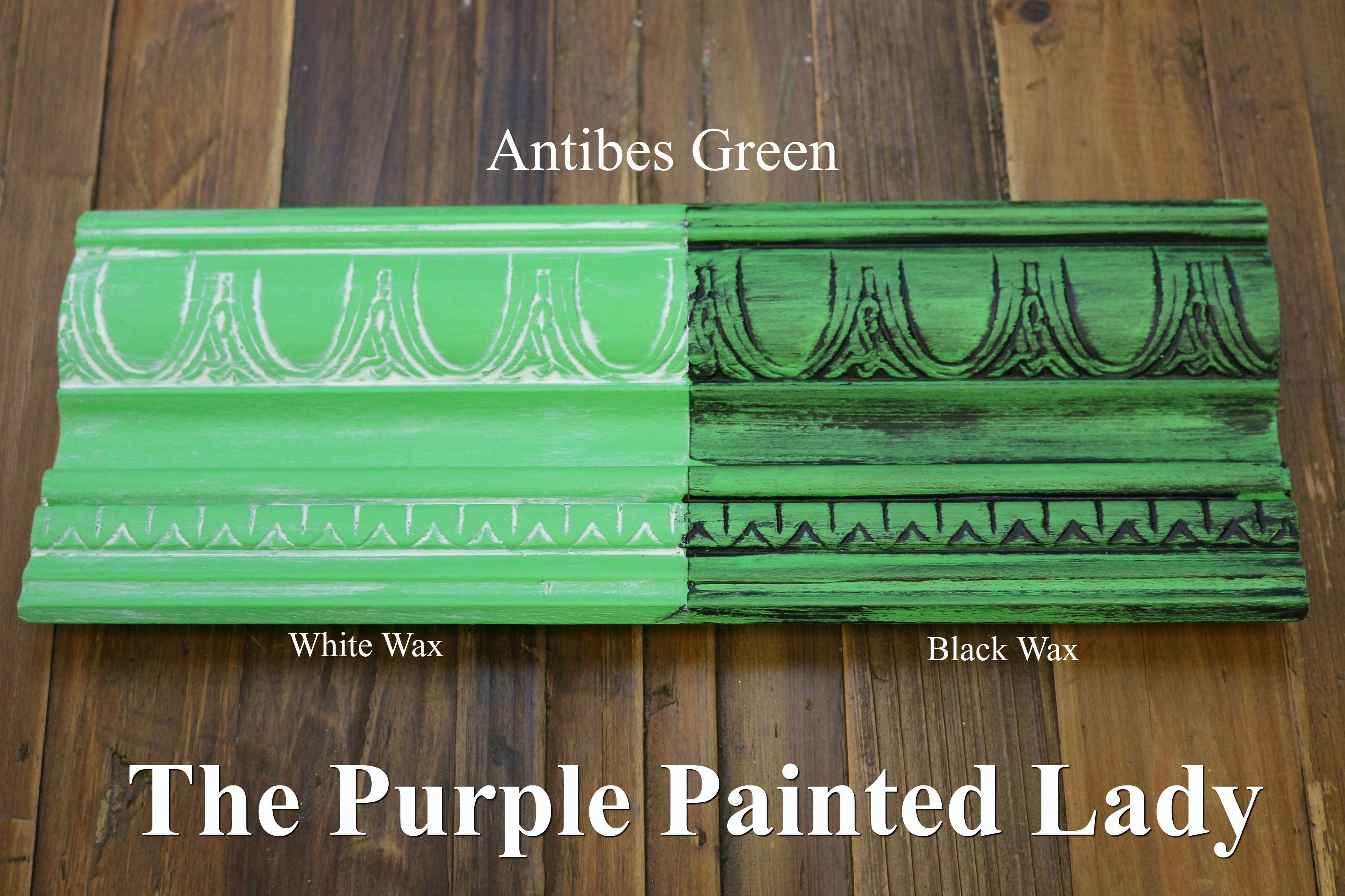 The Purple Painted Lady Two Coats Of Antibes Green Chalk