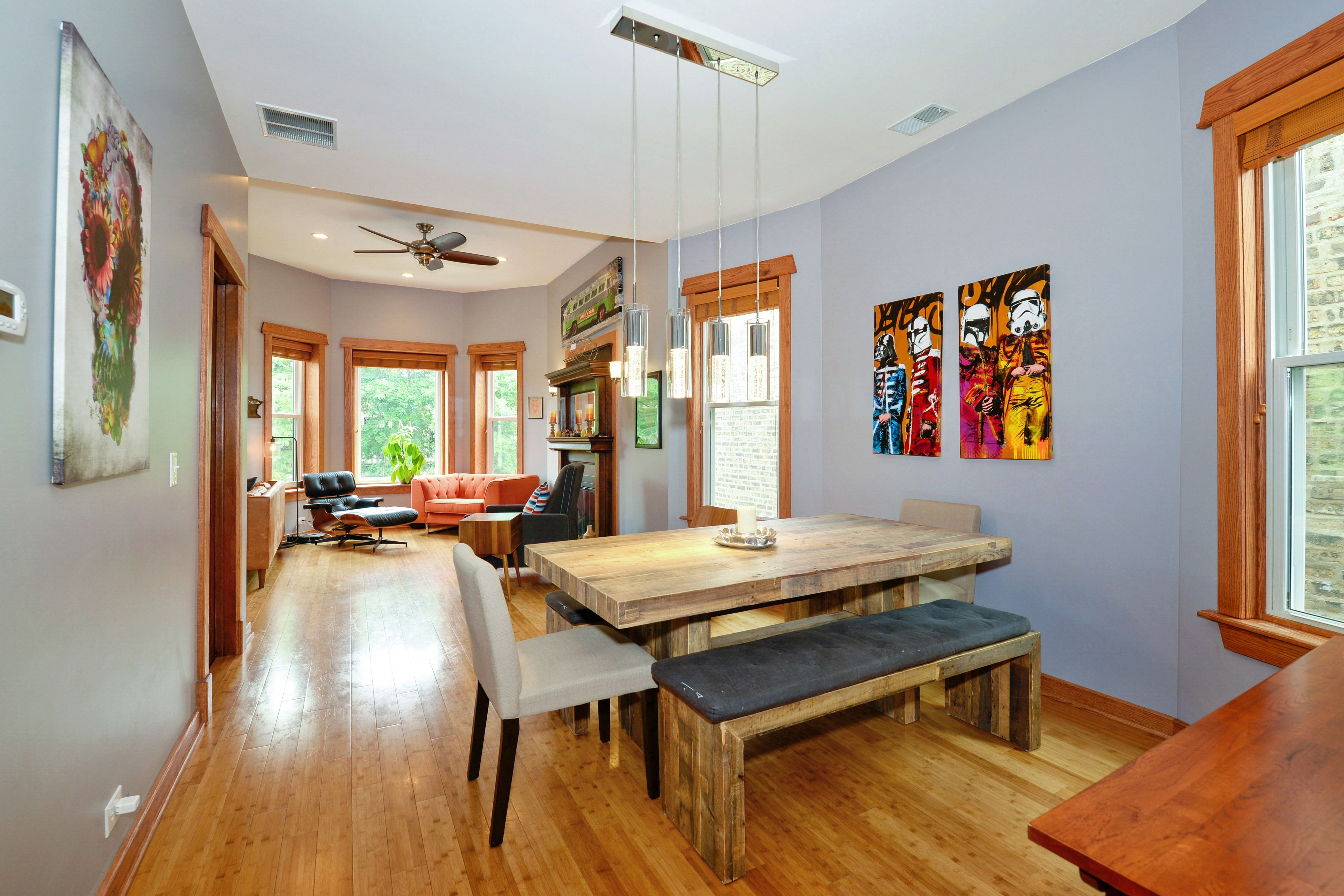 This 3 bedroom apartment in Logan Square has vintage ...