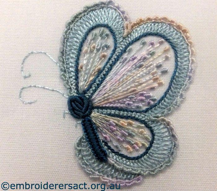 Brazilian embroidery butterfly