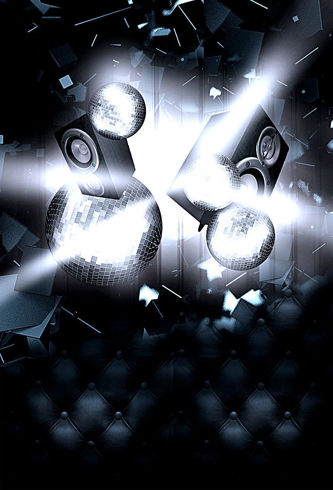 dynamic black music party poster  poster background