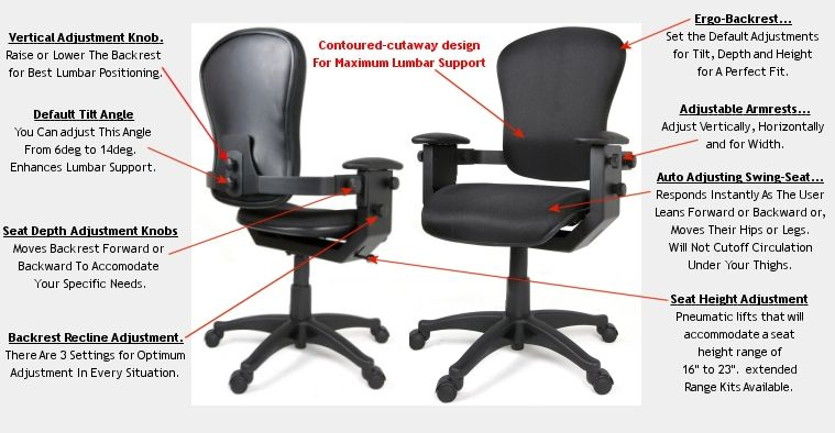 Sit Pain Free And Stop The Best Ergonomic Chair Office Back