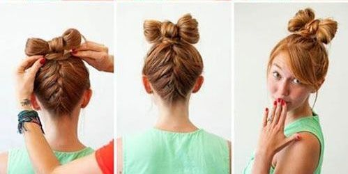 hair style simple diy bow tie hairstyle click on picture for 8789