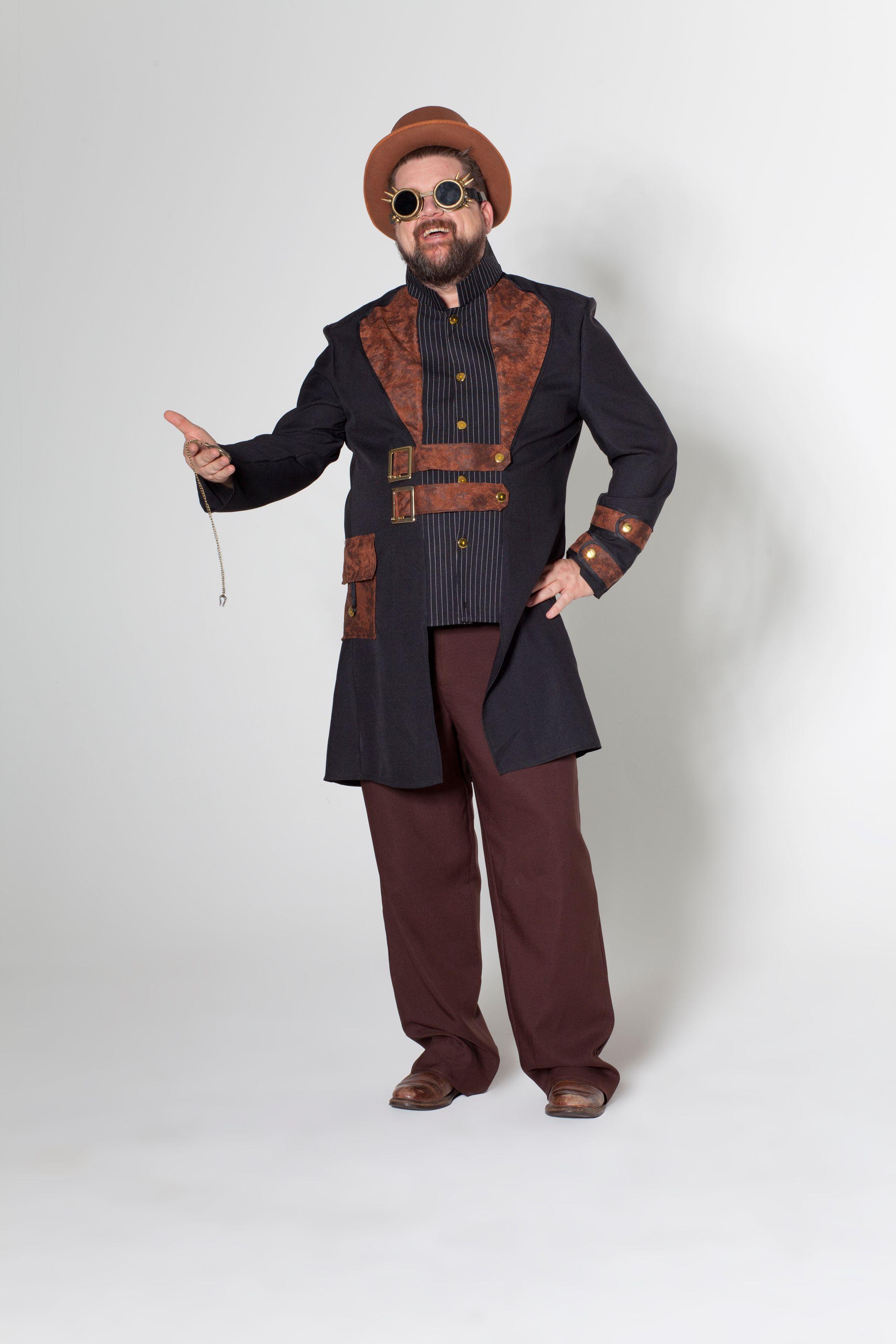 Steampunk Charlie Deiters Kostum Fasching Karneval Plus Size