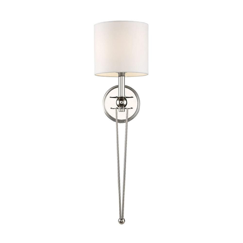 Filament Design 1-Light Polished Nickel Sconce CLI ... on Decorative Wall Sconces Candle Holders Chrome Nickel id=74376