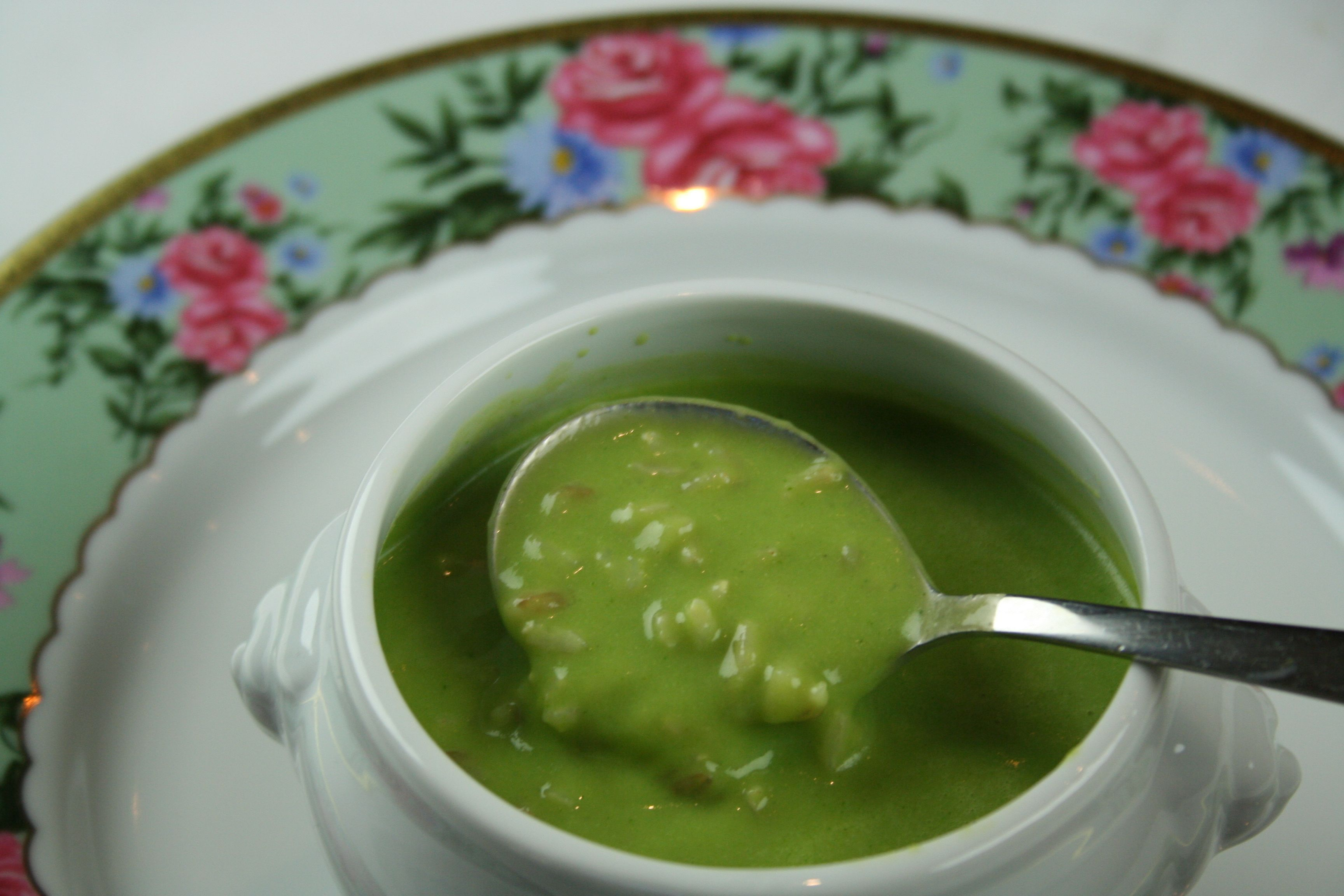 This split pea soup is marvelous to warm up on cold winter day.