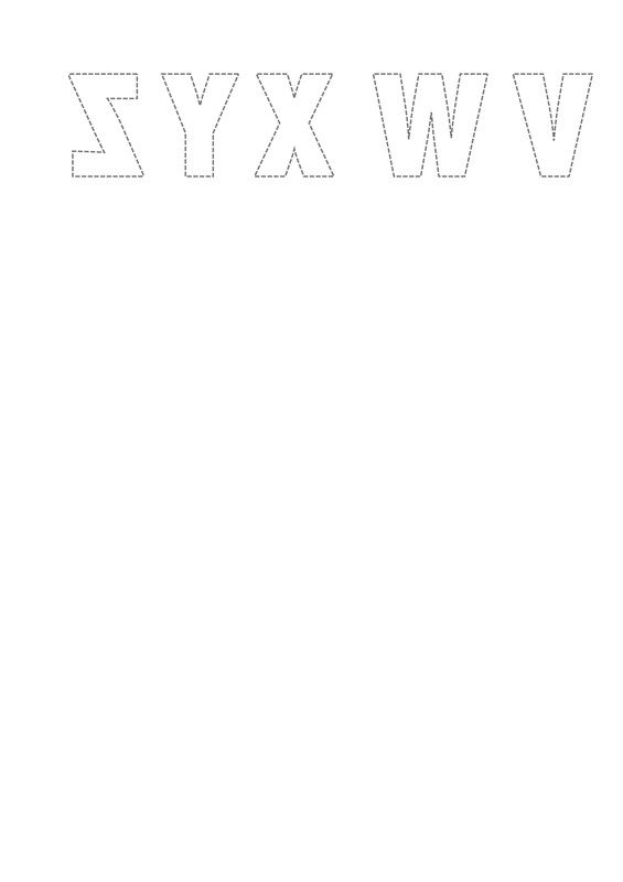 Free Printable Templates of reversed numbers and letters for card - numbers templates free