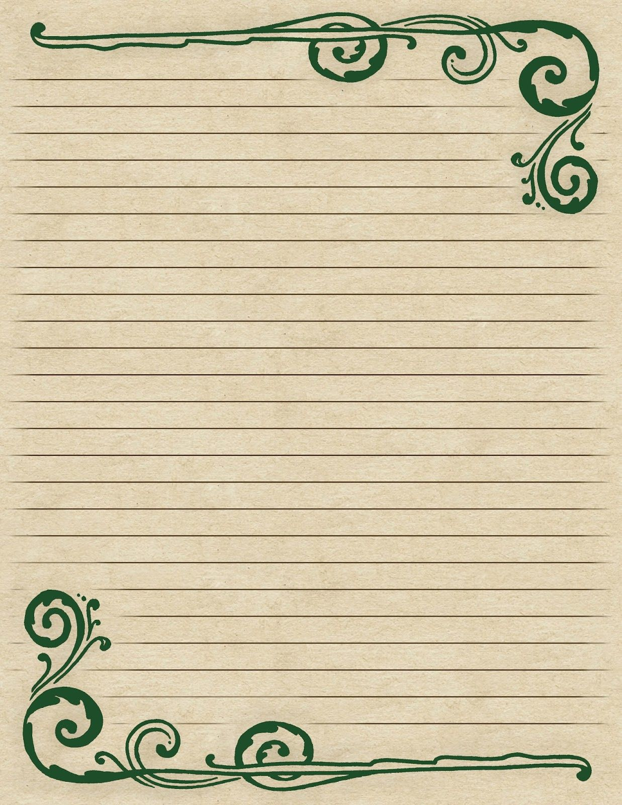 fancy writing paper