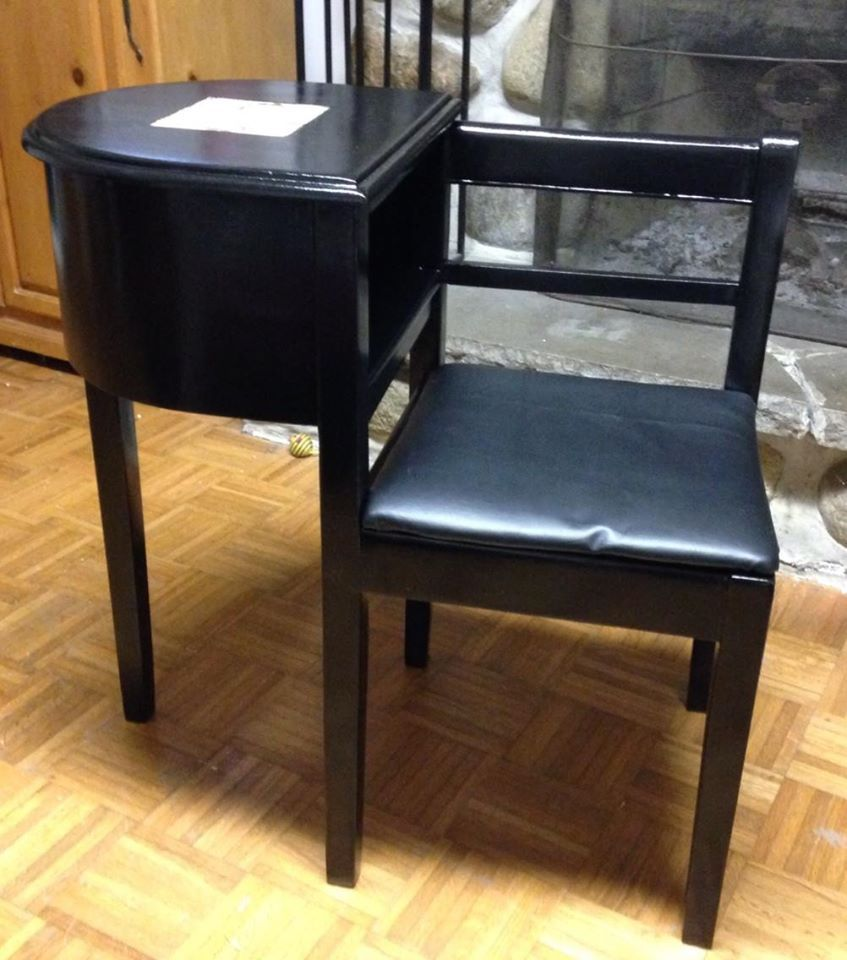 restauration d 39 un meuble t l phone vintage phone table and chair mes cr ations pour humains. Black Bedroom Furniture Sets. Home Design Ideas