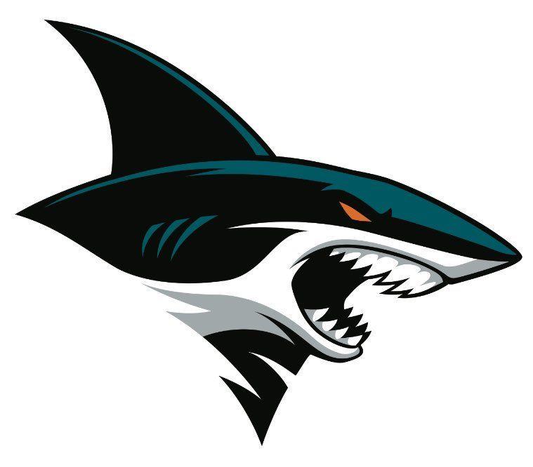 San Jose S 2nd Shark Logo Hewan Seni Mural Inspirasi Desain Grafis