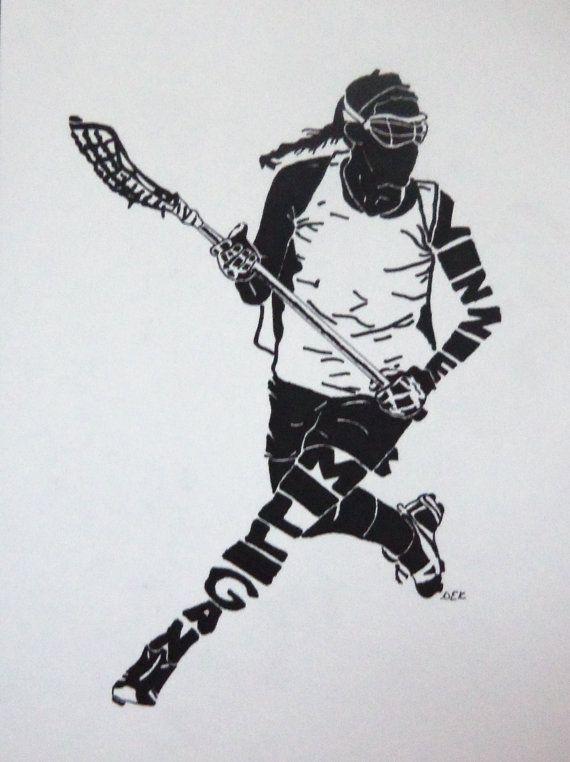 Women S Lacrosse Silhouette Etsy Womens Lacrosse Lacrosse Player Lacrosse