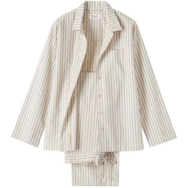 64696cab86 Toast Stripe Flannel Pyjama (80 AUD) ❤ liked on Polyvore featuring intimates