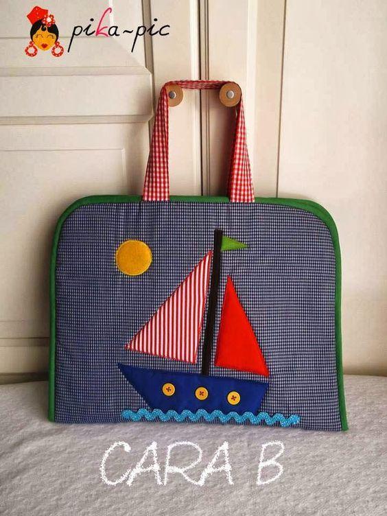 Pikapic maletines de dibujo de tela para ni a y ni o for Agarraderas para ninos