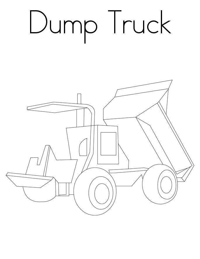Free Printable Dump Truck Coloring Pages 001