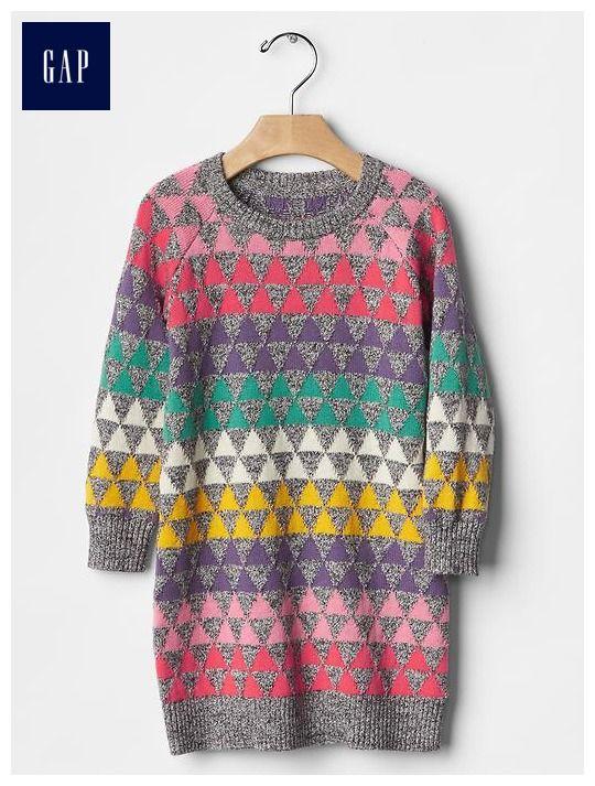 Geometric fair isle sweater dress | dresses | Pinterest | Fair ...