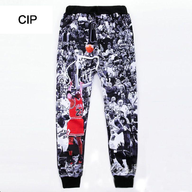 Cargo/&Chinos Men/'s Casual Pants Splash-Ink 3D Printing Sports Pants