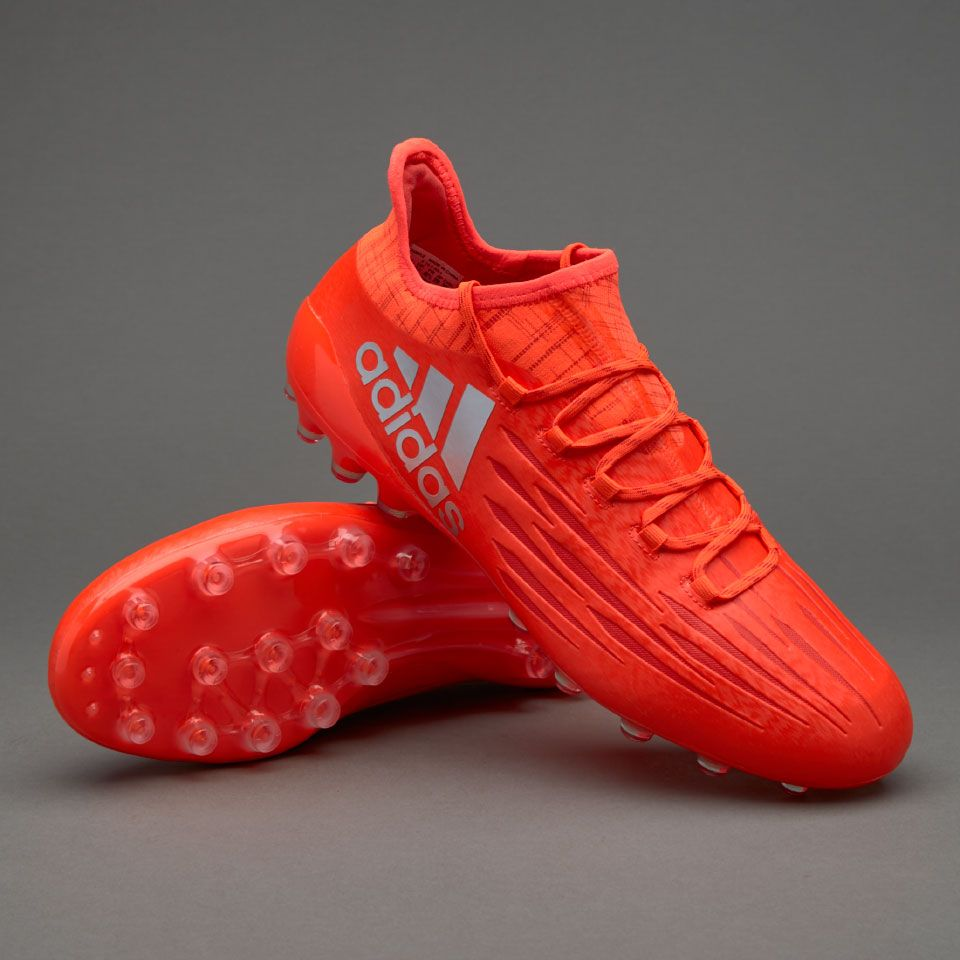 adidas X 16.1 AG+ - Mens Boots - Artificial Grass - Solar Red/Silver  Metallic/Hi-Res Red
