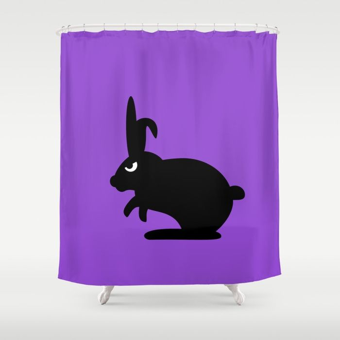 Angry Animals Bunny Shower Curtain This Bunny Is One Of The Bad