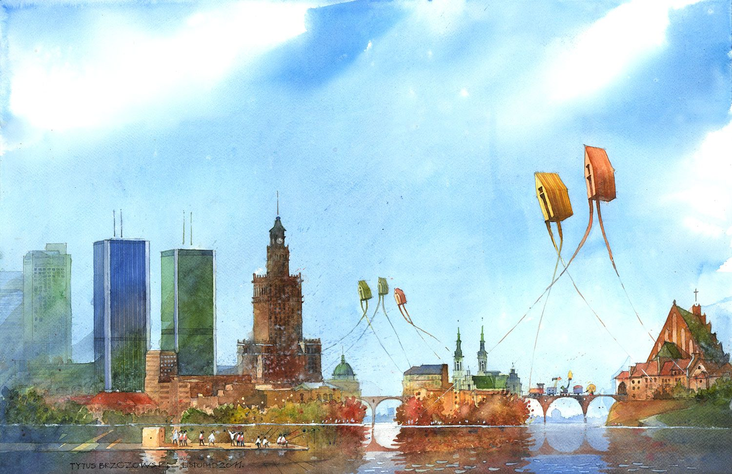 Warsaw as a group of urban islands. 2011