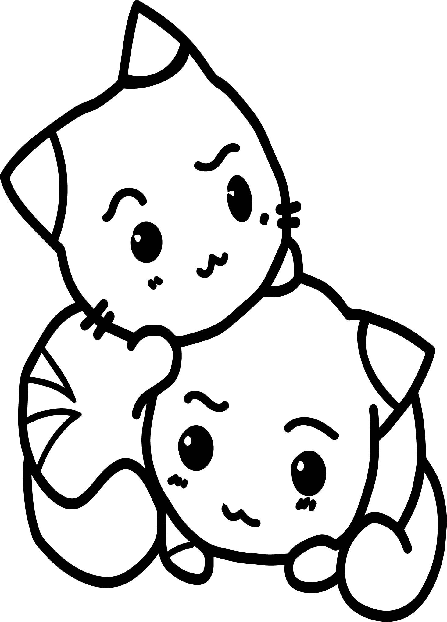 Nice two cats in love anime coloring page desenhos pinterest