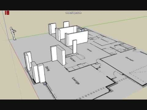 Charming THIS IS HOW TO MAKE A 3D PLAN OF A HOUSE IN GOOGLE SKETCHUP