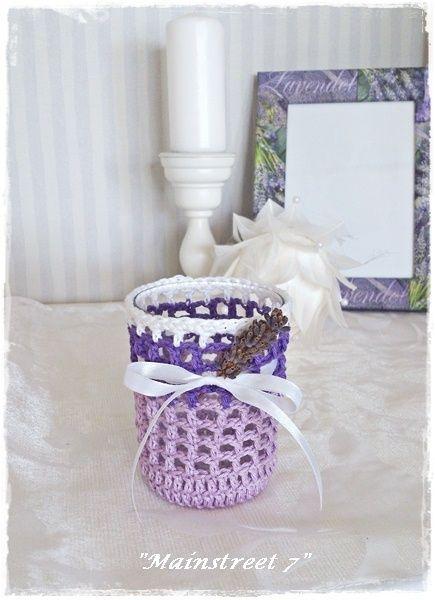 """Windlicht """"Lavendel"""" Teelicht, Deko,Provence von Mainstreet 7 auf DaWanda.com"""
