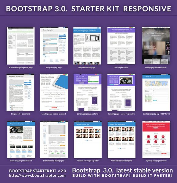Bootstrap Starter Responsive Kit Bootstrap Template Templates Ecommerce Template
