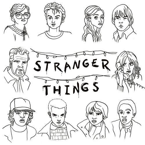 Stranger Things Illustration Dessin A Colorier Dessin A
