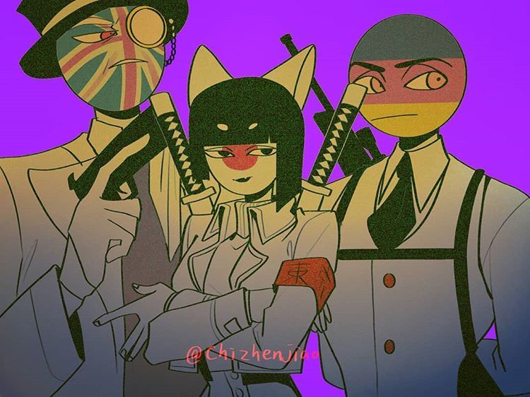 Country art image by aky d on conutry humans Anime