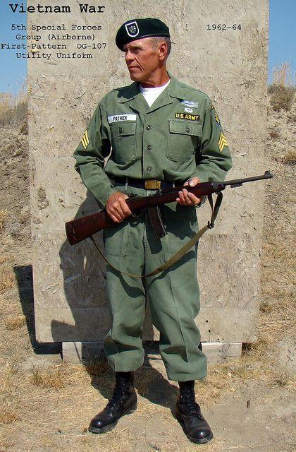 Vietnam War / 5th Special Forces Group, OG-107 Utility ...