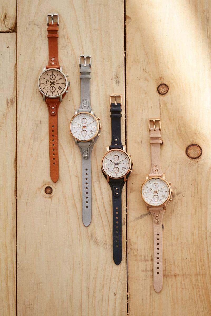 Our Favorite Boyfriend Watch In An Array Of Colors Fossil Watches Women Fossil Watches Fossil Watches For Men