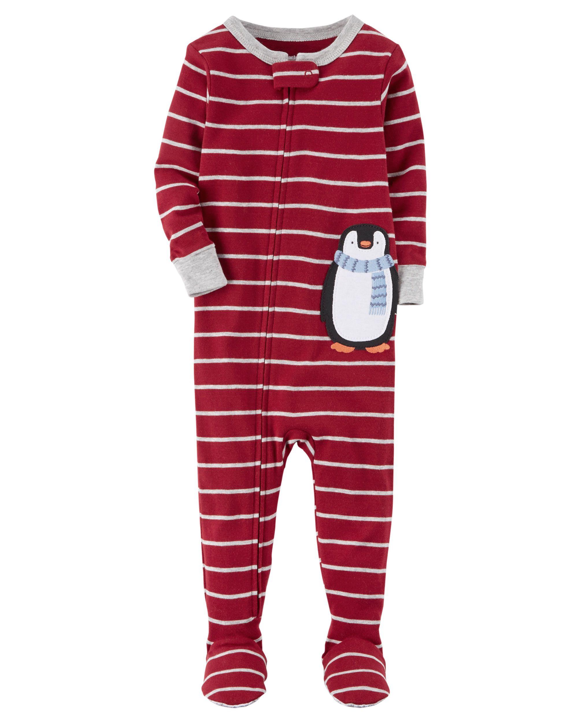baad97850 Baby Boy 1-Piece Penguin Snug Fit Cotton PJs
