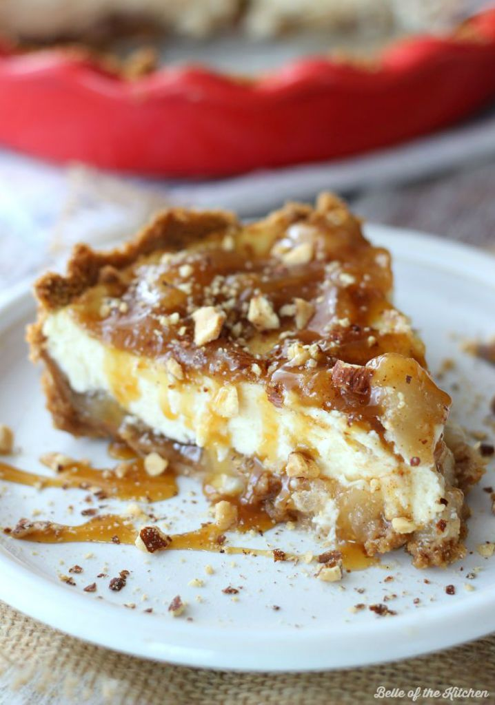 Caramel Apple Cheesecake #caramelapplecheesecake